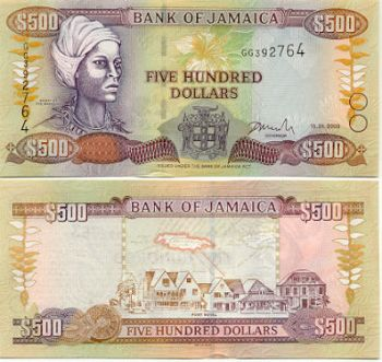 500 Jamaican Dollar Note
