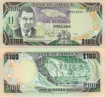 100 Jamaican Dollar Note
