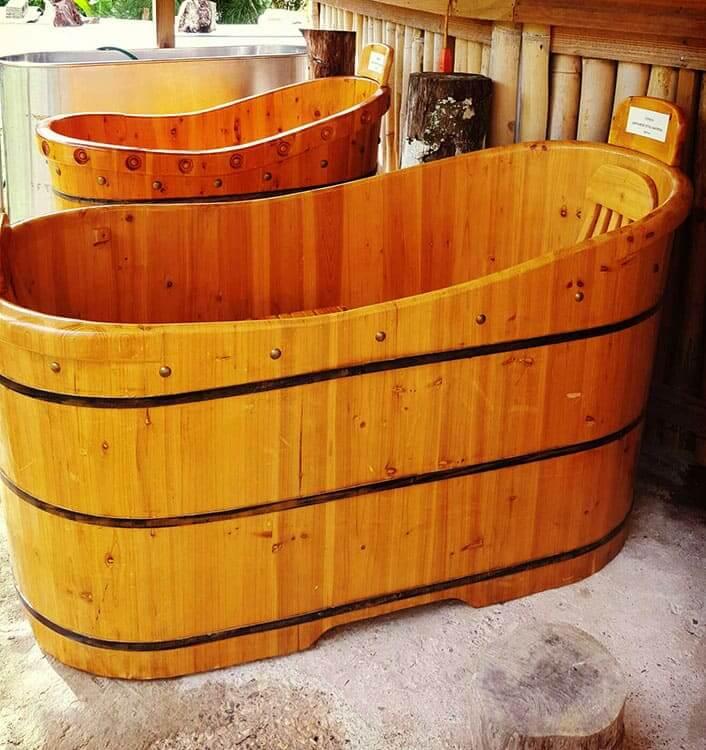 Enjoy An Herbal Soak In Our Japanese Tubs